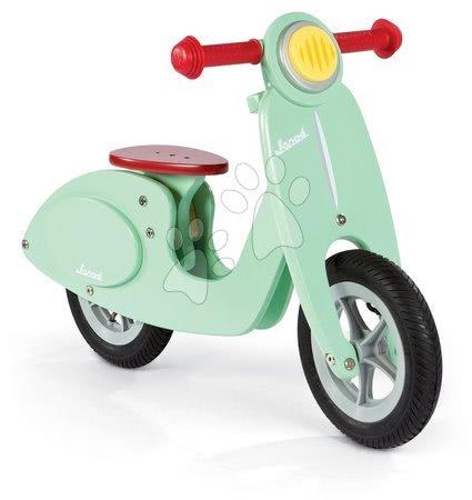 Janod - Dřevěné balanční kolo Mint Scooter Janod zelené s nafukovacími koly od 3 let