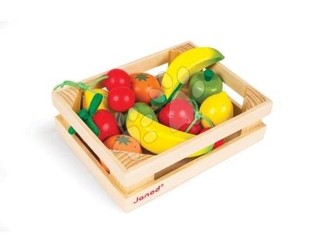 Detské kuchynky - Drevené ovocie Janod v bedničke 12 ks
