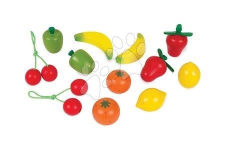 Detské kuchynky - Drevené ovocie Janod v bedničke 12 ks_1
