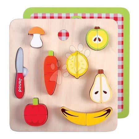 Drevené ovocie a zelenina Picnik Chunky Fruits&Veg Janod 12 kusov od 24 mes