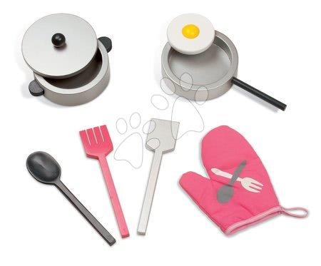 Drevené kuchynky - Drevená kuchynka Mademoiselle Maxi Cooker Janod s 8 doplnkami ružová_1