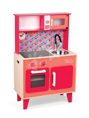 Dřevěná kuchyňka Spicy Cooker Janod červená od 3 let