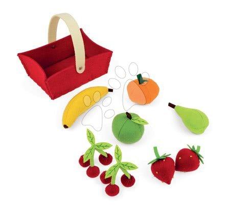 Detské kuchynky - Košík Janod plstený s 8 druhmi ovocia od 24 mes_1