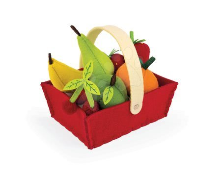 Detské kuchynky - Košík Janod plstený s 8 druhmi ovocia od 24 mes