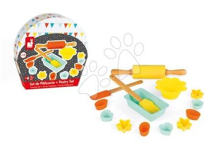 Detské kuchynky - Doplnky do kuchyne Happy day Pastry Janod v kufríku na pečenie a varenie 14 dielov_1