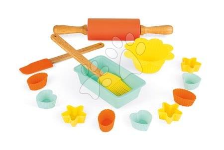 Detské kuchynky - Doplnky do kuchyne Happy day Pastry Janod v kufríku na pečenie a varenie 14 dielov