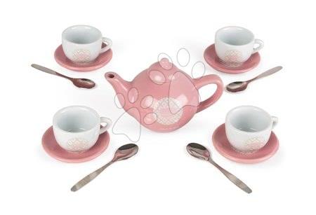 Detská čajová súprava Macaron Tea Set Janod porcelánová v kufríku 14 dielov od 3-8 rokov