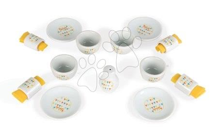 Detská obedová súprava Happy Day Janod porcelánová v kufríku 17 dielov od 3-8 rokov
