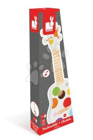 Detské hudobné nástroje - Drevené ukulele Confetti Ukulele Janod s realistickým zvukom_1