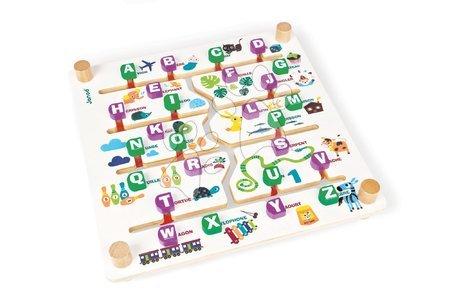 Společenská hra Labyrinth Alphabet Game Janod angličtina-francouzština od 4 let