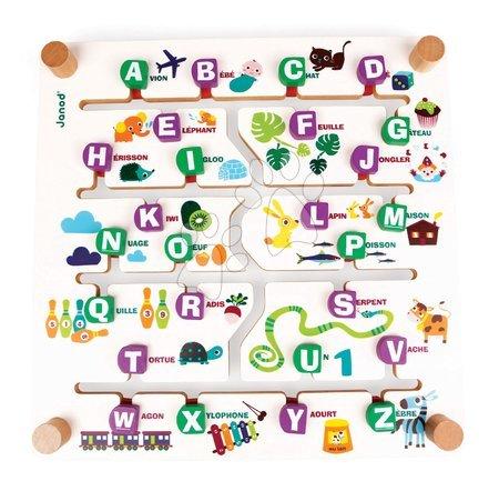 Spoločenské hry - Spoločenská hra Labyrinth Alphabet Game Janod angličtina-francúzština od 4 rokov_1