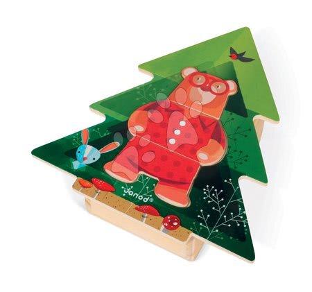 J08198 a janod drevene puzzle medved