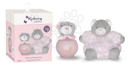 Kaloo - Toaletní voda pro nejmenší Lilirose Maxi Fluffy Set Kaloo Scented Water 100 ml růžový medvěd od 3 měsíců