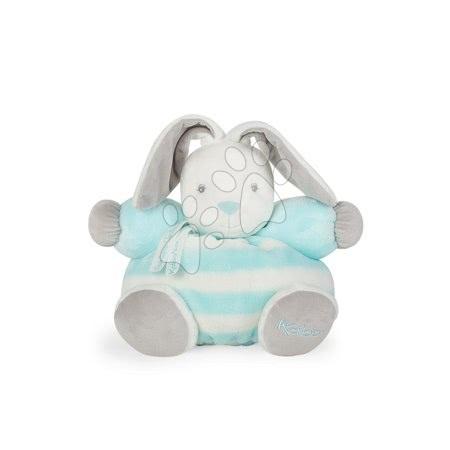 Plyšový zajačik BeBe Pastel Chubby Kaloo 25 cm pre najmenšie deti v darčekovom balení tyrkysovo-krémový