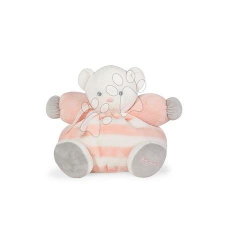 Plyšový medvedík BeBe Pastel Chubby Kaloo 25 cm pre najmenšie deti v darčekovom balení broskyňovo-krémový