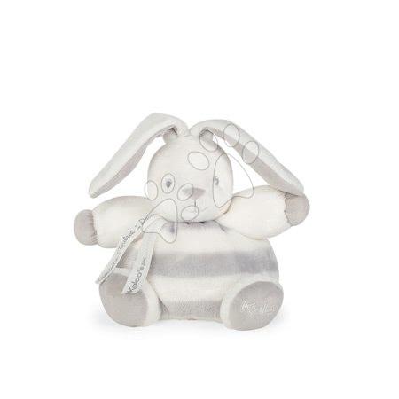Plyšový zajačik BeBe Pastel Chubby Kaloo 18 cm pre najmenšie deti v darčekovom balení šedo-krémový