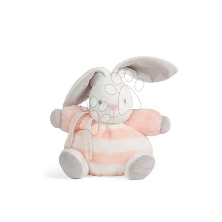 Plyšový zajačik BeBe Pastel Chubby Kaloo 18 cm pre najmenšie deti v darčekovom balení broskyňovo-krémový
