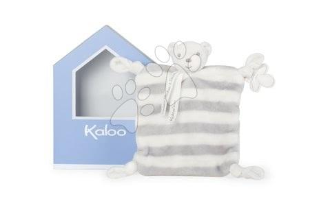 Kaloo plyšový medvedík Bebe Pastel Doudou 20 cm 960087 šedo-krémový