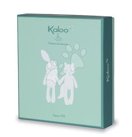 Hračky do postieľky  - Plyšový zajac na maznanie Justin Rabbit Triangle Doudou Fripons Kaloo z jemného materiálu 20 cm v darčekovom balení od 0 mes_1