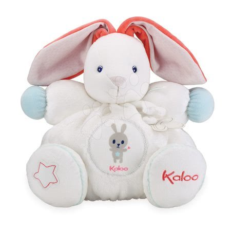 Plyšové hračky - Plyšový zajíc Imagine Chubby Kaloo světélkující s chrastítkem v dárkovém balení 30 cm bílý od 0 měsíců