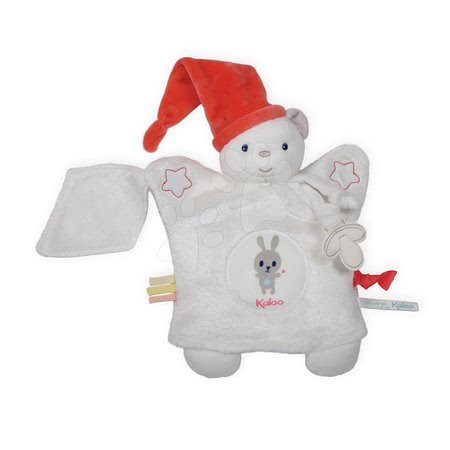 Plyšová bábka-medveď na maznanie Imagine Doudou Kaloo svetielkujúci 20 cm biely od 0 mesiacov
