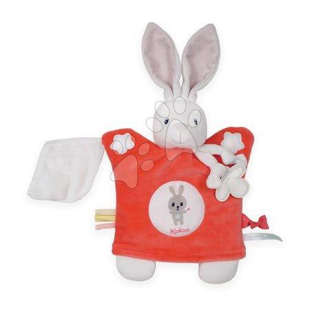 Plyšová bábka-zajačik na maznanie Imagine Doudou Kaloo svetielkujúci 20 cm červený od 0 mesiacov