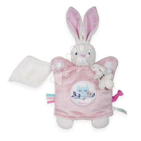 Plyšová bábka-zajačik na maznanie Imagine Doudou Kaloo svetielkujúci 20 cm ružový od 0 mesiacov
