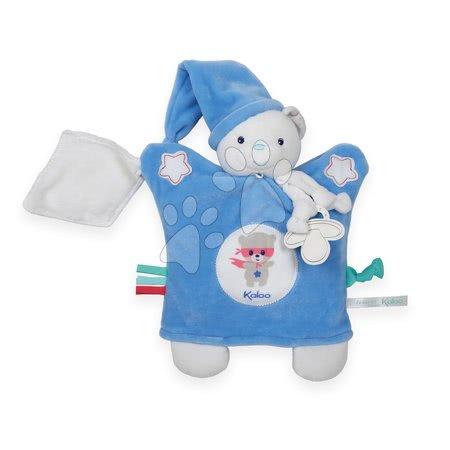 Plyšová bábka-medveď na maznanie Imagine Doudou Kaloo svetielkujúci 20 cm modrý od 0 mesiacov