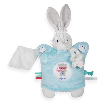 Plyšová bábka-zajačik na maznanie Imagine Doudou Kaloo svetielkujúci 20 cm modrý od 0 mesiacov