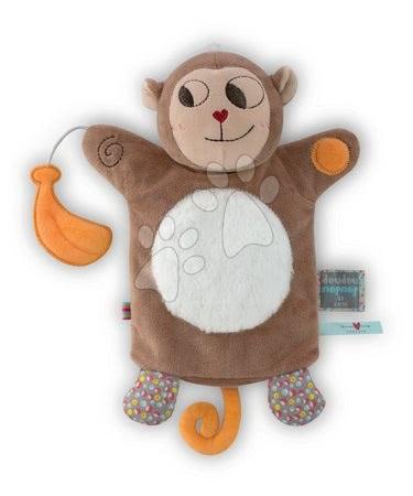 Plüss maki kesztyűbáb Nopnop-Banana Monkey Doudou Kaloo 25 cm legkisebbeknek