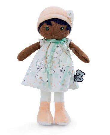 Hadrové panenky - Panenka pro miminka Manon K Tendresse Kaloo 32 cm v hvězdičkových šatech z jemného textilu v dárkovém balení od 0 měsíců