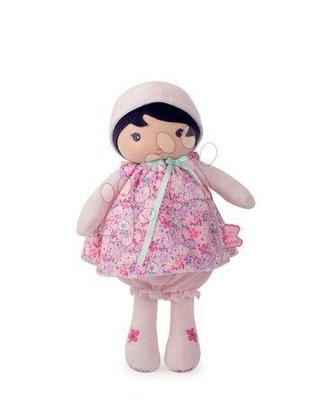 Hadrové panenky - Panenka pro miminka Fleur K Tendresse Kaloo 32 cm v květinkových šatech z jemného textilu v dárkovém balení od 0 měs