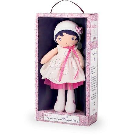 Handrové bábiky - Bábika pre bábätká Perle K Tendresse Kaloo 32 cm v bielych šatách z jemného textilu v darčekovom balení od 0 mes_1