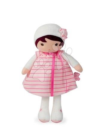 Hadrové panenky - Panenka pro nejmenší Rose K Tendresse Kaloo 32 cm v proužkovaných šatech z jemného textilu v dárkovém balení od 0 měsíců