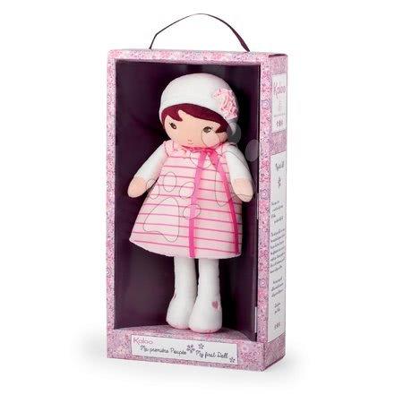 Handrové bábiky - Bábika pre najmenších Rose K Tendresse Kaloo 32 cm v pásikavých šatách z jemného textilu v darčekovom balení od 0 mes_1