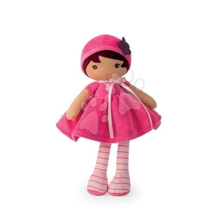 Bábika pre bábätká Emma K Tendresse Kaloo 32 cm v ružových šatách z jemného textilu v darčekovom balení