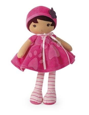 Hadrové panenky - Panenka pro miminka Emma K Tendresse Kaloo 32 cm v růžových šatech v dárkovém balení od 0 měsíců