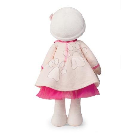 Bábiky pre dievčatá - Bábika pre bábätká Perle K Tendresse doll XXL Kaloo 80 cm v bielych šatách z jemného textilu od 0 mes_1