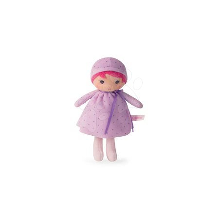 Păpuşă pentru bebeluşi Lise K Tendresse Kaloo 18 cm în hăinuţă cu buline din textil fin în ambalaj de cadou