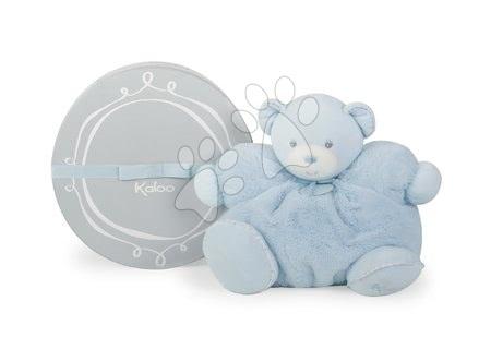 Plyšoví medvědi - Plyšový medvídek Perle-Chubby Bear Kaloo s chrastítkem 30 cm v dárkovém balení modrý_1