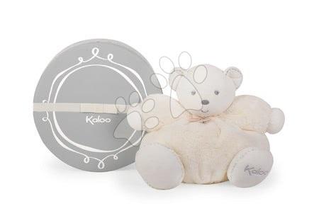 Plyšoví medvědi - Plyšový medvídek Perle-Chubby Bear Kaloo s chrastítkem 30 cm v dárkovém balení krémový_1