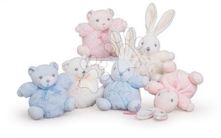 Plyšové hračky - Jemný plyšový králíček a medvídek PERLE Kaloo 12 cm krémový v luxusním provedení