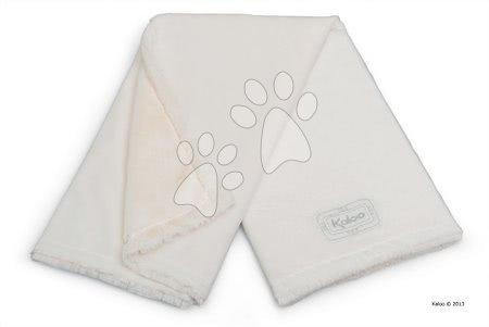 Babapléd Perle-Buggy Blanket Kaloo micro-velour krémszínű