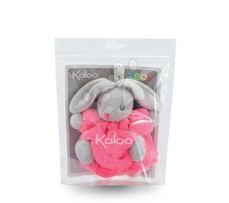 Kaloo - Plyšový králíček Plume-Mini Neon Kaloo 12 cm pro nejmenší růžový_1