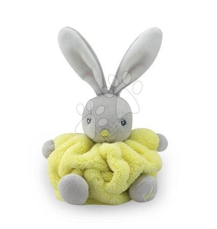 Kaloo - Plyšový králíček Plume-Mini Neon Kaloo 12 cm pro nejmenší žlutý