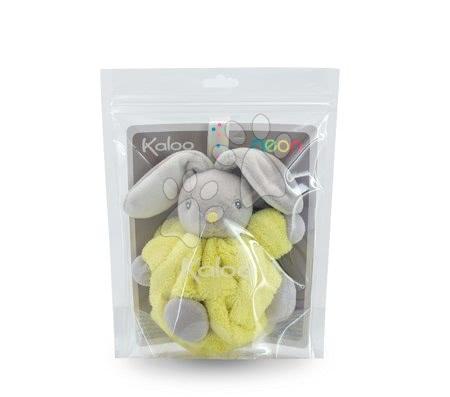 Kaloo - Plyšový králíček Plume-Mini Neon Kaloo 12 cm pro nejmenší žlutý_1