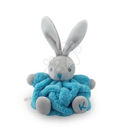 Kaloo - Plyšový králíček Plume-Mini Neon Kaloo 12 cm pro nejmenší tyrkysový