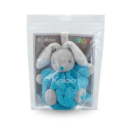 Kaloo - Plyšový králíček Plume-Mini Neon Kaloo 12 cm pro nejmenší tyrkysový_1