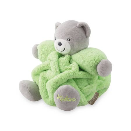 Plišani medvjed Chubby Neon Kaloo 18 cm u poklon-pakiranju za najmlađe zeleni