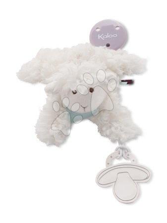 Klip na dudlík Les Amis Kaloo 20 cm s plyšovou ovečkou z jemného měkkého plyše pro nejmenší krémově-bílý